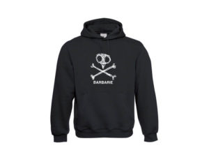 Hoodie BARBARIE Black (No Zipper)